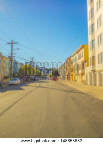 Abstract blur of car on road