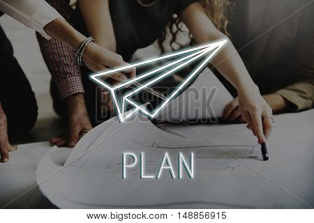 Business Startup Strategy Launch Concept