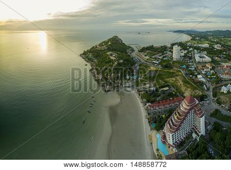 aerial view of khao takeib hua hin prachuapkirikhan southern of thailand important traveling destination