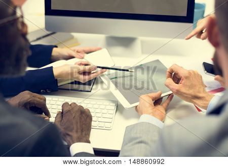Business Colleagues Conference Teamwork Ideas Concept