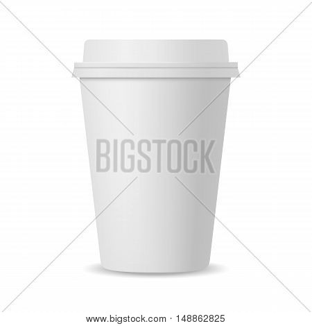 Blank realistic coffee cup mockup. Vector illustration