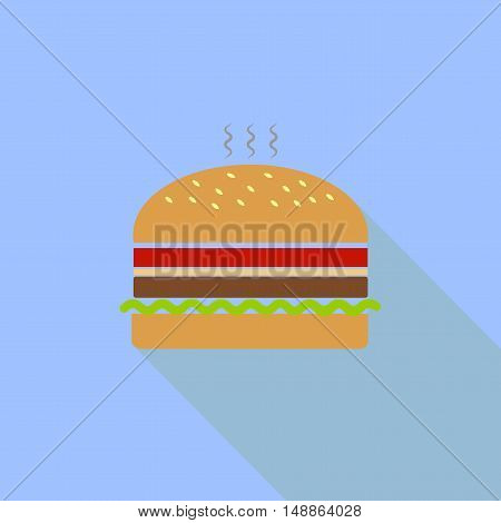 Icon hamburger. symbol, icon, emblem. Vector illustration.