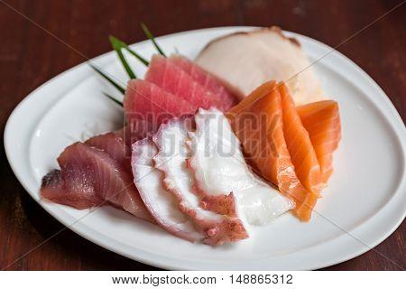 Sashimi set, japanese groumet cuisine