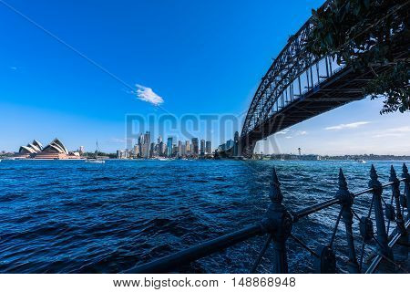 Sydney Harbour Bridge and Sydney Opera House NSW Australia. Sep 26,2016 the Sydney Opera House is one of the modern building, well known worldwide.