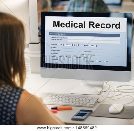 Medical Record Report Healthcare Document Concept