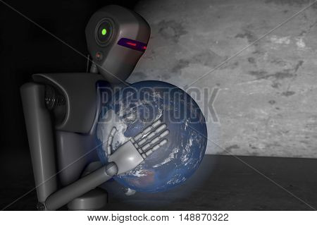 robots out of control strive for world domination (3d rendering)