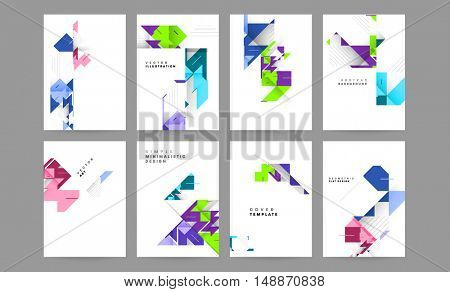 Futuristic Design with abstract mesh backgrounds set