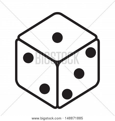 dice icon black dice cubes on white background