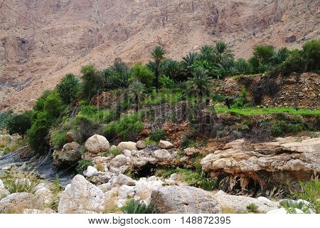 Cliffs at Wadi Tiwi Sultanate of Oman