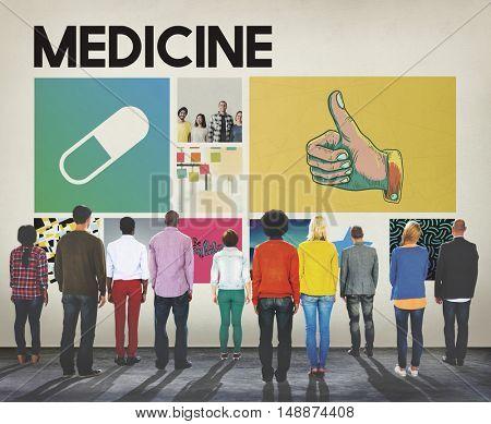 Pills Drugs Medication Cure Treatment Healthcare Concept
