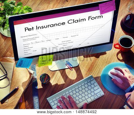 Pet Insurance Claim Form Concept