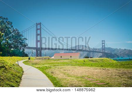 Sunny Day On Pier And Marina In San Francisco City.
