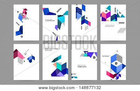 Design layout template in A4 size, Front Page Brochure, Book Cover, Flyer, Magazine, Abstract Geometric Business Templates for Presentations and Leaflets, A4 size