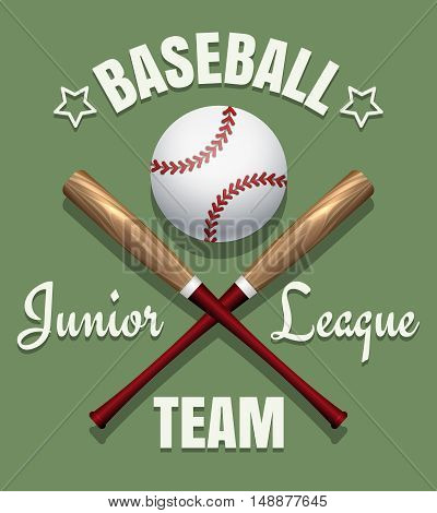 Baseball game team vector emblem. Softball tournament badge template