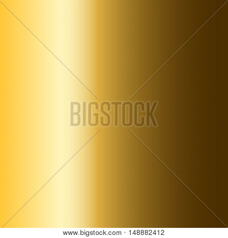 Gold texture pattern. Light realistic shiny metallic empty golden gradient template. Abstract metal decoration. Design for wallpaper background wrapping fabric etc. Vector Illustration.