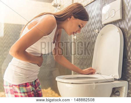 Beautiful Woman In Toilet