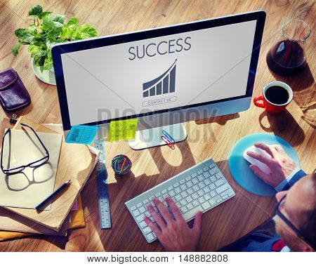 Business Success Report Graph Concept