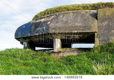 German observation bunker in the Dutch village of Willemstad municipality of Moerdijk. The bunker was built in World War II by the Germans on the existing rampart.