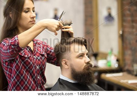 Male Client In Barbershop