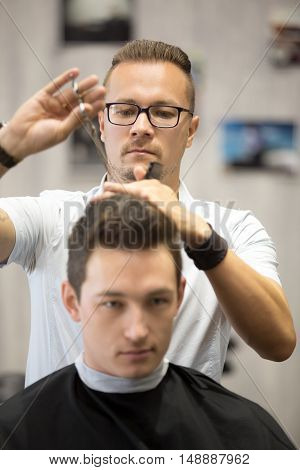 Barber Making Haircut