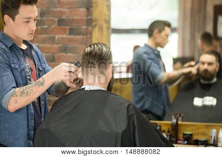 Trendy Haircut In Barbershop
