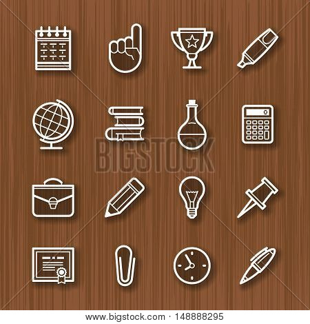 line icons set. For business management finance communication social network affiliate marketing.