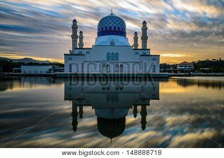 Floating mosque, Kota Kinabalu Sabah Borneo Malaysia