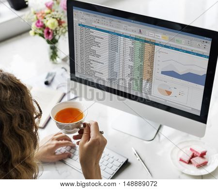 Data Information Report Statistics Strategy Concept