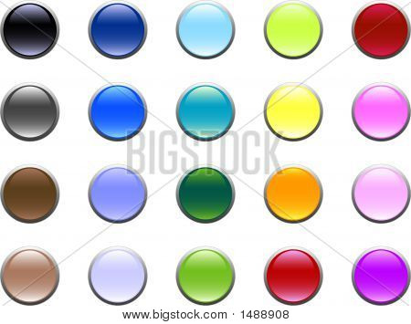 Round Glass Buttons