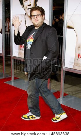 Jonah Hill at the World premiere of 'Walk Hard' held at the Grauman's Chinese Theater in Hollywood, USA on December 12, 2007.
