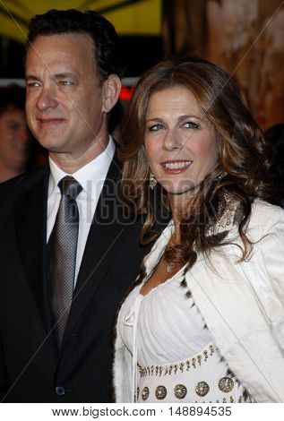Tom Hanks and Rita Wilson at the World premiere of 'Charlie Wilson's War' held at the Universal Studios in Hollywood, USA on December 10, 2007.