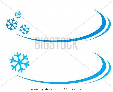background with blue snowflakes and place for text