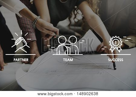Team Partner Success People Graphic Concept