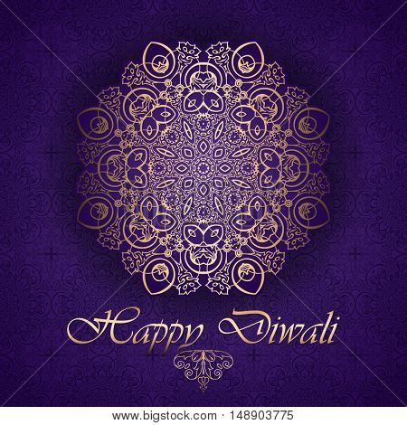 Decorative background dor Diwali celebration
