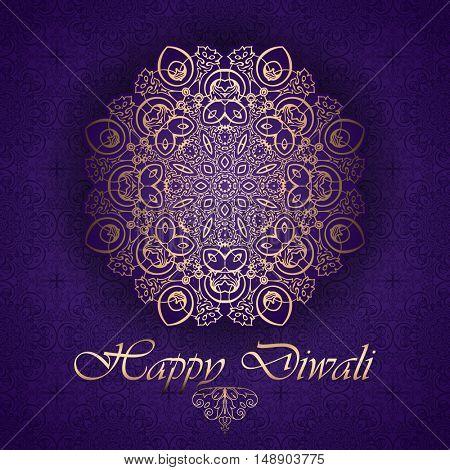 Decorative background dor Diwali celebration