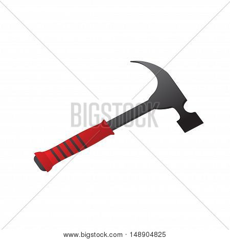 Large construction hammer on a white background. Vector illustration
