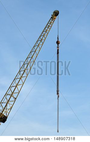 crane for use in the building construction