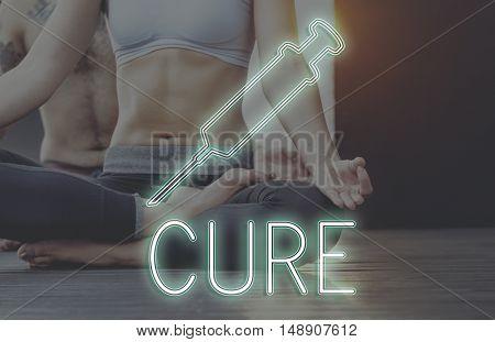 Meditation Healthcare Treatment Cure Concept