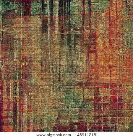 Grunge background for a creative vintage style poster. With different color patterns: yellow (beige); brown; gray; green; red (orange); pink