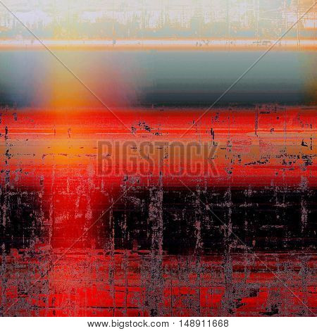 Old vintage backdrop. Original background or aged texture with different color patterns: yellow (beige); gray; blue; red (orange); black