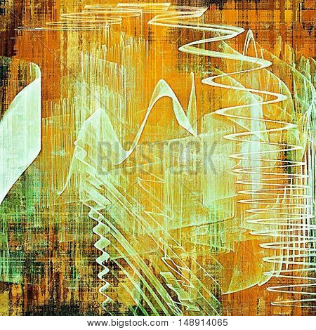 Vintage and retro design elements on faded grunge background. With different color patterns: yellow (beige); brown; green; red (orange); white