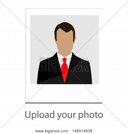 Vector illustration upload your photo icon with man image