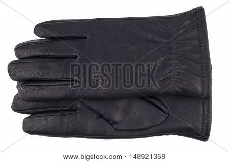 black man gloves. Isolated on white background. Top view.