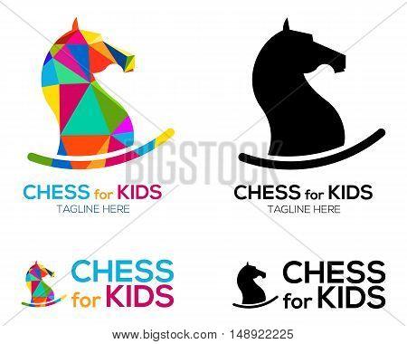Chess Knight Horse Logo design for kids