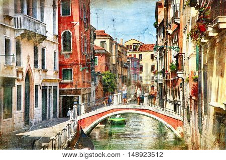 Venice. Artwork in painting style