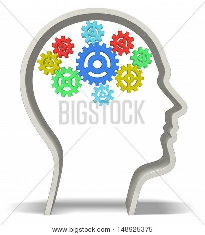 Human Brain 3D intelligence creativity imagination concept