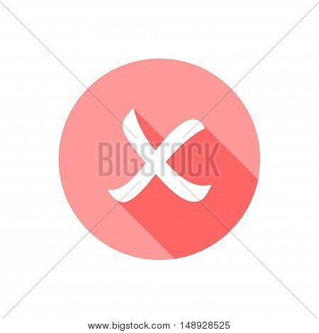 vector of cross icon on white background