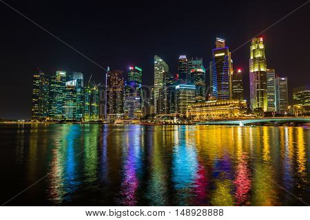 Singapore city skyline - architecture and travel background