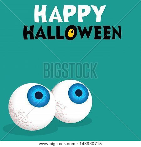 Eyeballs Halloween themed illustration vector card design