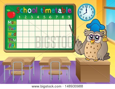 School timetable classroom theme 3 - eps10 vector illustration.